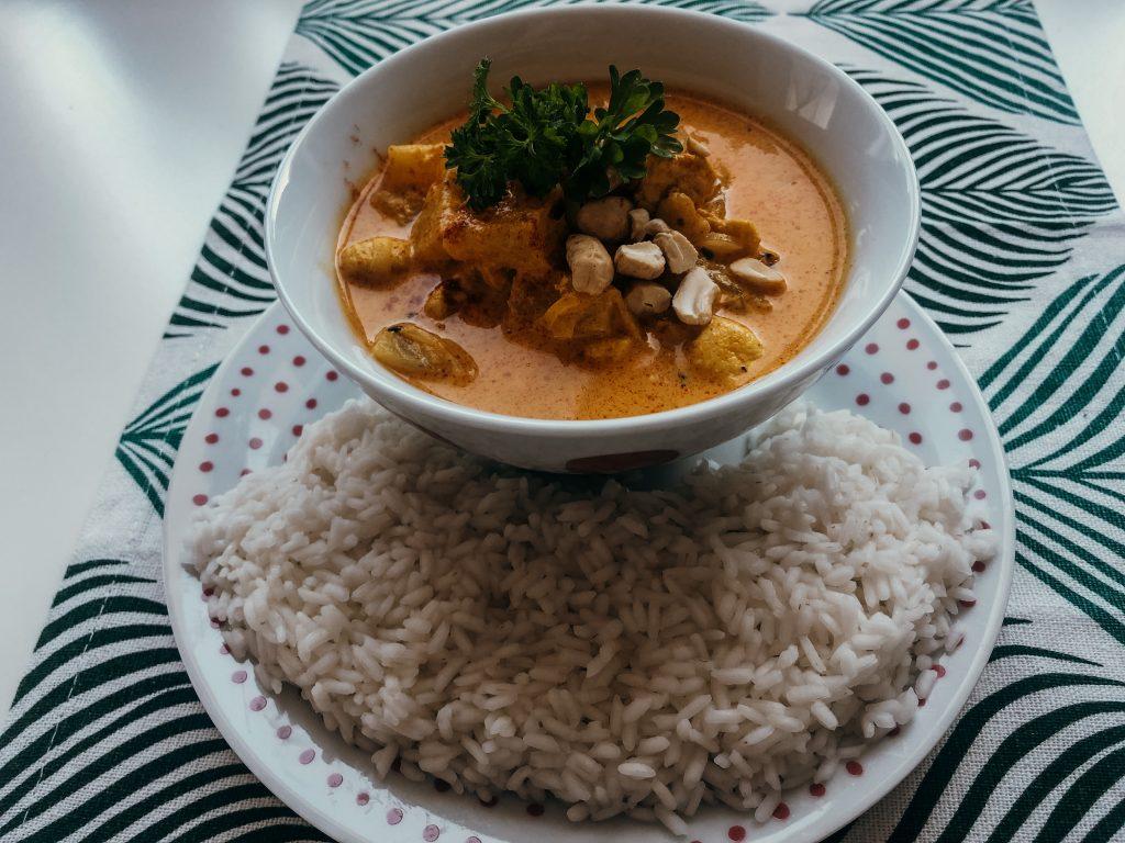 żółte curry - propozycja podania