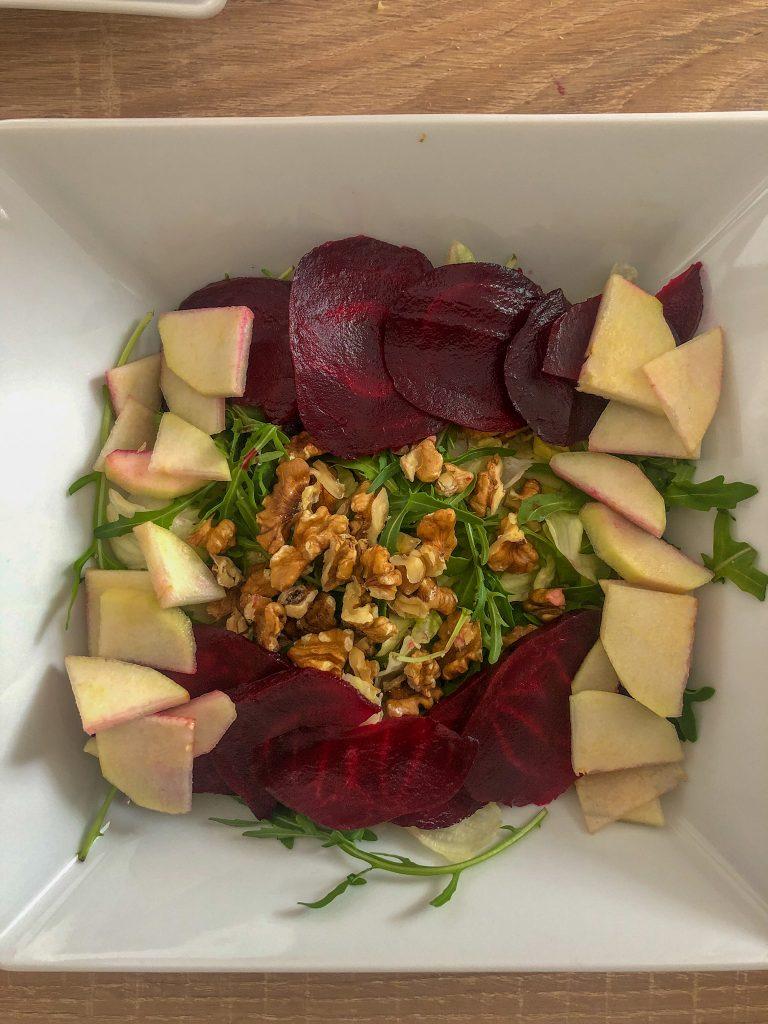 salata burak gruszka
